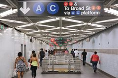 城市新的地铁约克 免版税库存图片