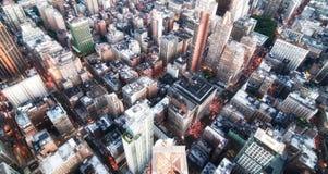 城市新的晚上地平线约克 免版税库存照片