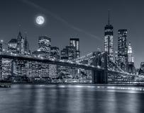 城市新的晚上约克 免版税库存图片