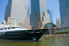 城市新的游艇约克 免版税库存照片