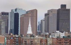 城市新的老视图 免版税库存图片