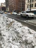 城市新的雪风暴约克 库存照片