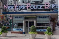 城市新的nypd正方形岗位时间约克 免版税库存照片
