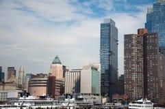 城市新的scrapper天空约克 免版税库存图片