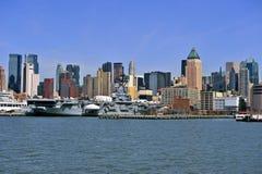 城市新的scrapper天空约克 免版税库存照片