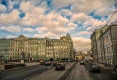 城市旅行在莫斯科 免版税库存照片