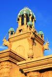 城市旅馆星期日塔 免版税库存照片