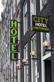 旅馆标志 库存图片