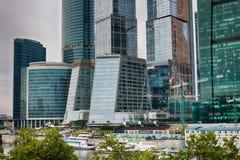 城市日克里姆林宫室外的莫斯科 商业中心在俄罗斯 财务往来的传导 莫斯科俄国 库存图片