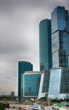 城市日克里姆林宫室外的莫斯科 商业中心在俄罗斯 财务往来的传导 莫斯科俄国 库存照片