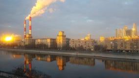 城市日克里姆林宫室外的莫斯科 库存照片
