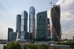 城市日克里姆林宫室外的莫斯科 免版税库存图片