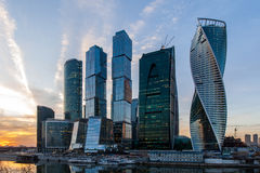 城市日克里姆林宫室外的莫斯科 库存图片