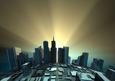城市日出 图库摄影