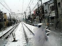 城市日本东京冬天 库存照片