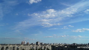 城市日落风景天空云彩 股票录像