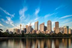 城市早晨夏天悉尼 库存照片