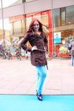 城市时装模特儿街道样式 库存图片