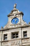 城市时钟德国大厅莱比锡 库存图片