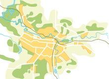 城市映射简化的向量 图库摄影