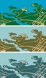 城市映射 库存照片
