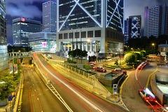 城市晚上业务量 免版税库存图片