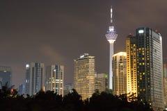 城市晚上地平线 图库摄影