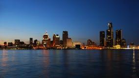 城市晚上地平线 库存照片