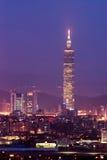 城市晚上场面台北 免版税图库摄影