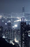 城市晚上场面 库存照片