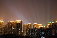 城市晚上场面 图库摄影