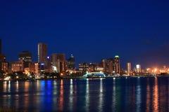 城市晚上场面 免版税库存图片