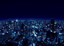 城市晚上大阪umeda 库存照片