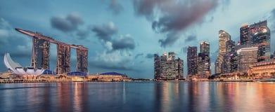 城市晚上新加坡 库存图片