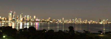 城市晚上珀斯 图库摄影