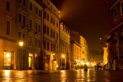 城市晚上老场面 图库摄影