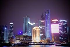城市晚上视图 免版税图库摄影