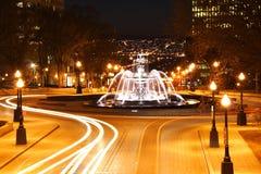 城市晚上魁北克场面 图库摄影