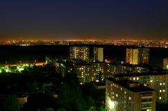 城市晚上 库存图片