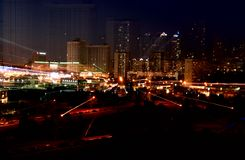 城市晚上 免版税库存照片
