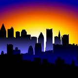 城市晚上 库存例证