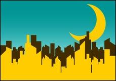 城市晚上 向量例证