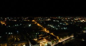城市晚上pattaya 免版税库存照片