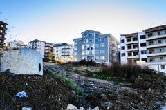 城市更新在土耳其的马尔马拉地区 免版税库存图片