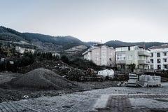 城市更新在土耳其的马尔马拉地区 免版税库存照片
