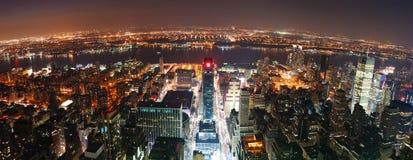 城市曼哈顿新的全景地平线约克 库存图片
