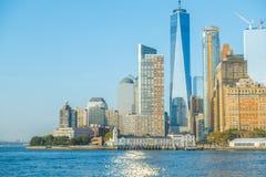 城市曼哈顿新的地平线约克 美国 库存照片
