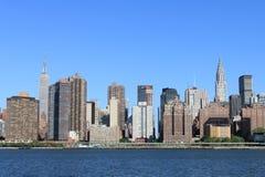 城市曼哈顿新的地平线约克 免版税库存图片