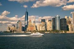 城市曼哈顿新的地平线约克 免版税图库摄影