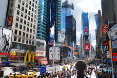 城市曼哈顿新的方形时间约克 库存图片